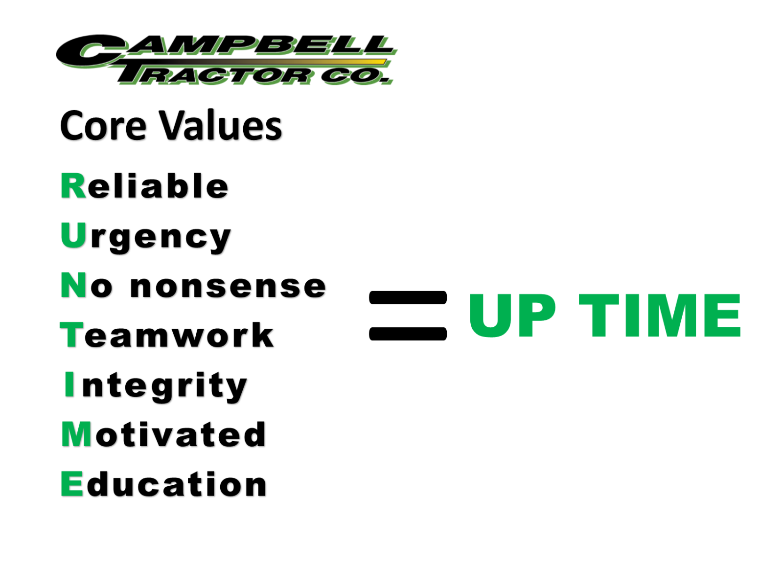 Core Values Campbell Tractor Company